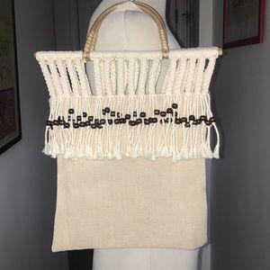 Vintage Beaded summer tote handheld bag 😘😘